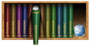 Sprachtext-Bücher Stockbilder