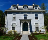 Sprague Adams House. This is a Spring picture of the historic Sprague Adams House located in Bangor, Maine in Penobscot County. This three-story framed house is stock photos