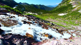 Sprague Creek Cascades Montana Stock Photo
