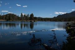 Sprague jezioro w Skalistej góry parku narodowym 2014 zdjęcia stock