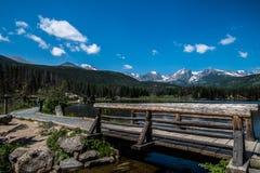 Sprague Lake, Colorado Stock Foto