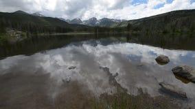 Sprague Lake Colorado Rocky Mountain National Park stock footage