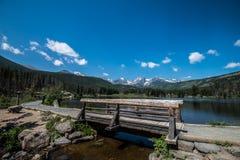 Walking around Sprague Lake Royalty Free Stock Images