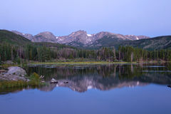Sprague Lake på Rocky Mountain National Park Royaltyfria Foton