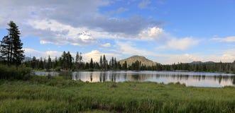 Sprague Lake Panorama Stock Photo