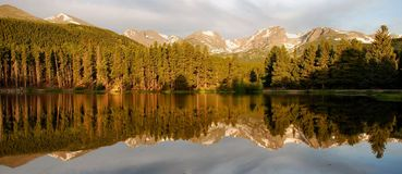 Sprague Lake Reflections - Rocky Mountains Stock Images