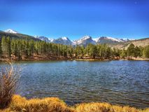 Sprague Lake RMNP Immagini Stock