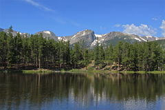 Sprague Lake in Colorado Stock Photo