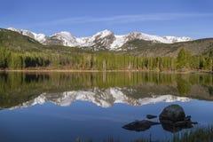 Sprague Lake Rocky Mountain National parkerar Estes Park Colorado Fotografering för Bildbyråer