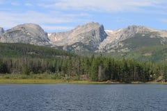 Sprague Lake In Rocky Mountain nationalparkslut Royaltyfri Bild
