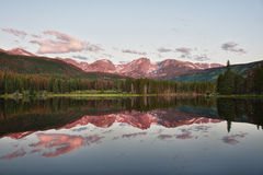 Sprague Lake in Rocky Mountains Royalty Free Stock Photo