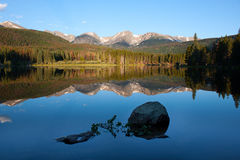 Sprague Lake in Rocky Mountains Stock Photography