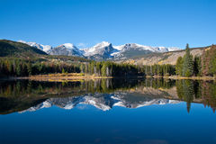 Sprague Lake View In Rocky Mountains National Park Royalty Free Stock Photos