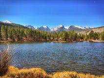 Sprague湖RMNP 库存图片