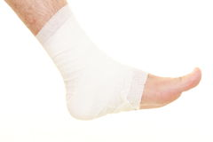 Sprained ankle Stock Photography