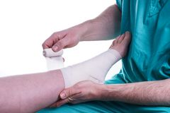 Sprained Foot Stock Photography