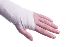 Sprained hand Royalty Free Stock Image