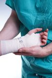 Sprained hand Royalty Free Stock Images