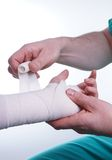 Sprained hand Royalty Free Stock Photos
