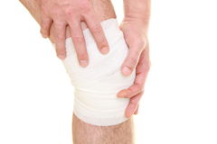 Sprained knee Royalty Free Stock Photos