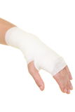Sprained wrist Stock Images
