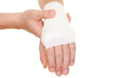 Sprained wrist Stock Image