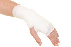 Sprained wrist royalty free stock photo