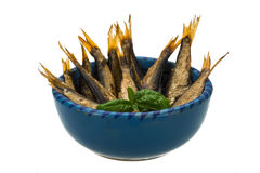 Sprat in the bowl Royalty Free Stock Photo