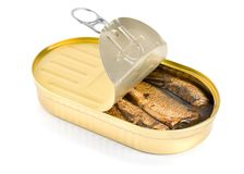 Sprat fish canned Royalty Free Stock Image