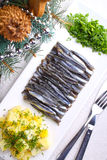 Sprat neatly stacked Stock Photos
