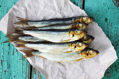 Sprats  is smoked Royalty Free Stock Photography