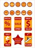 sprawdź ikony, obiektów na zakupy do portfela Fotografia Stock