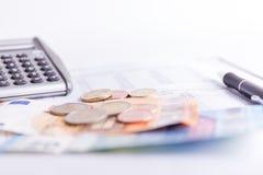 sprawdź pieniądze obraz stock
