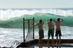sprawdź surfować chłopcze Obrazy Royalty Free