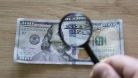 Sprawdzać banknot zdjęcie wideo