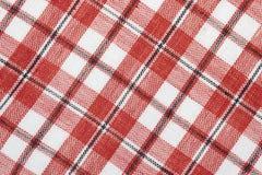 sprawdzać bawełniana diagonalna tkanina Fotografia Stock