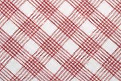 sprawdzać bawełniana diagonalna tkanina Obraz Royalty Free