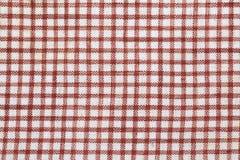 sprawdzać bawełniana tkanina Obraz Stock
