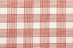 sprawdzać bawełnianej tkaniny czerwień Fotografia Stock