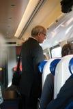 sprawdzać bileta pociąg Zdjęcie Royalty Free
