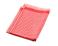 sprawdzać czerwony herbacianego ręcznika biel Obrazy Royalty Free