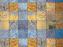 Sprawdzać deseniowy różnorodni rodzaje naturalny kamień dla tła Zdjęcia Stock