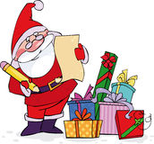 sprawdzać jego listę Santa Obrazy Stock