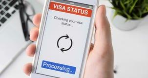 Sprawdzać podróży wizy status - wiza zatwierdza zdjęcie wideo