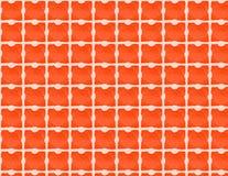 sprawdzać pomarańcze wzoru biel Obrazy Stock