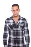sprawdzać target1098_0_ mężczyzna koszulowy Obrazy Stock