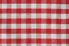 sprawdzać tkaniny czerwień Fotografia Stock