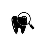 Sprawdzać ząb bryły ikonę Zdjęcie Stock
