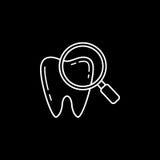 Sprawdzać ząb wykłada ikonę Zdjęcie Stock