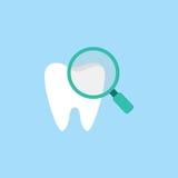 Sprawdzać zębu mieszkania ikonę Obraz Stock